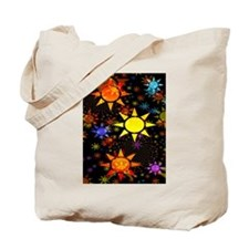 Tons of Suns Fractal Tote Bag