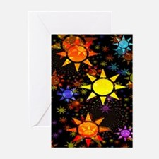 Tons of Suns Fractal Greeting Cards (Pk of 10)