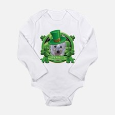 Happy St. Patrick's Day Westie Long Sleeve Infant