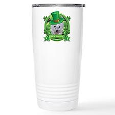 Happy St. Patrick's Day Westie Travel Mug