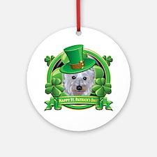 Happy St. Patrick's Day Westie Ornament (Round)