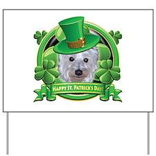 Happy St. Patrick's Day Westie Yard Sign