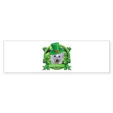 Happy St. Patrick's Day Westie Bumper Sticker