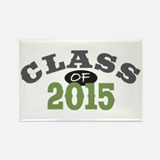 Class Of 2015 Green Rectangle Magnet (10 pack)
