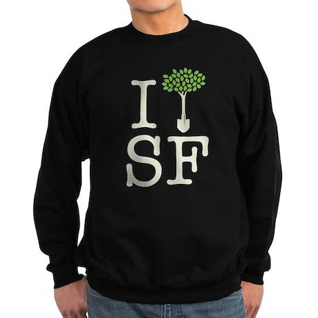 """I Plant Trees in SF"" Sweatshirt (dark)"