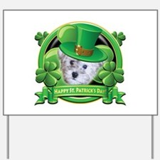 Happy St. Patrick's Day Schnoodle Yard Sign