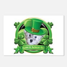 Happy St. Patrick's Day Schnoodle Postcards (Packa