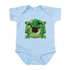 Happy St. Patrick's Day Pug Infant Bodysuit