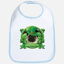 Happy St. Patrick's Day Pug Bib