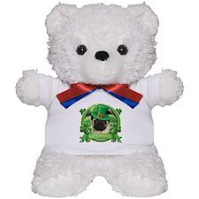 Happy St. Patrick's Day Pug Teddy Bear