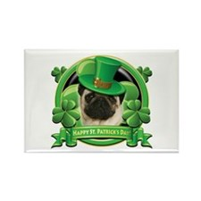 Happy St. Patrick's Day Pug Rectangle Magnet (100