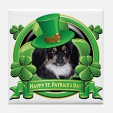 Happy St. Patrick's Day Pekingnese Tile Coaster