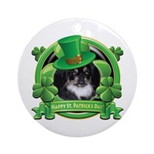 Happy St. Patrick's Day Pekingnese Ornament (Round