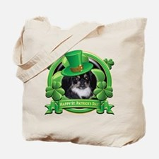 Happy St. Patrick's Day Pekingnese Tote Bag