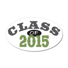 Class Of 2015 Green 22x14 Oval Wall Peel