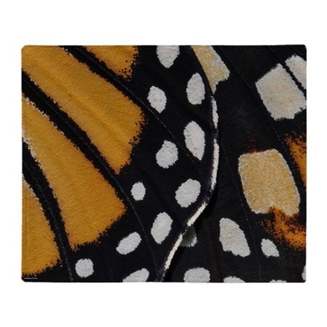 Monarch Wing Abstract Throw Blanket