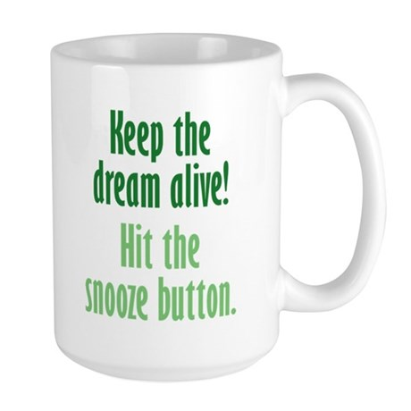 Snooze Button Large Mug