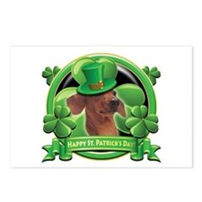 Happy St. Patrick's Day Dachshund Postcards (Packa