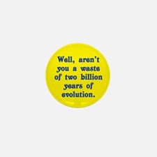 Billion Years of Evolution Mini Button (10 pack)