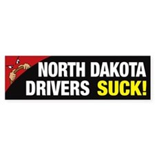 North Dakota Drivers Suck Bumper Sticker