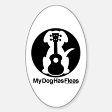 My Dog Has Fleas Ukulele Mugs Sticker (Oval)
