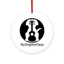 My Dog Has Fleas Ukulele Mugs Ornament (Round)
