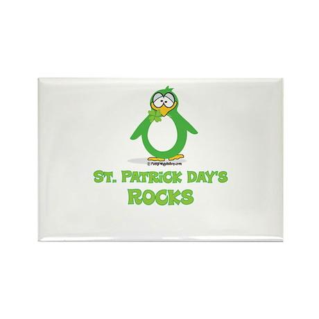 St. Patrick's Day Rocks Rectangle Magnet