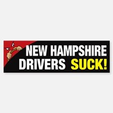 New Hampshire Drivers Suck Bumper Bumper Sticker