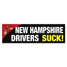 New Hampshire Drivers Suck Bumper Sticker