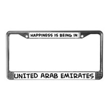 Happiness is United Arab Emir License Plate Frame