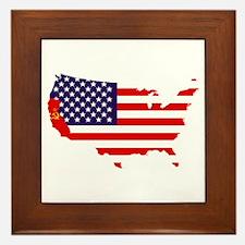 Communist California Framed Tile