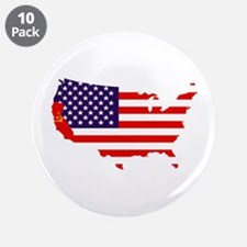 "Communist California 3.5"" Button (10 pack)"
