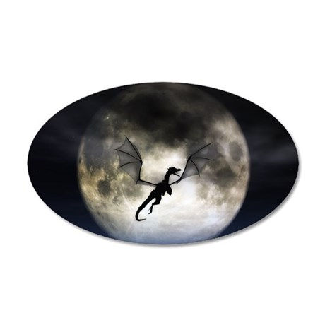 Dragon Moon 22x14 Oval Wall Peel