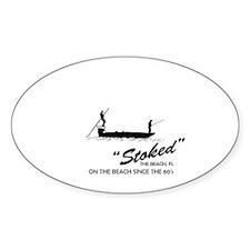 Stoke Fishing Charters Sticker (Oval 50 pk)