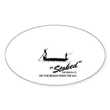 Stoke Fishing Charters Sticker (Oval)