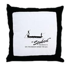 Stoke Fishing Charters Throw Pillow