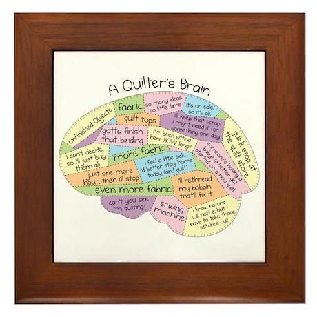 Quilter's Brain Framed Tile