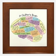 Quilter's Brain Framed Tile