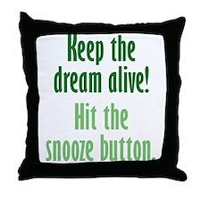 Snooze Button Throw Pillow