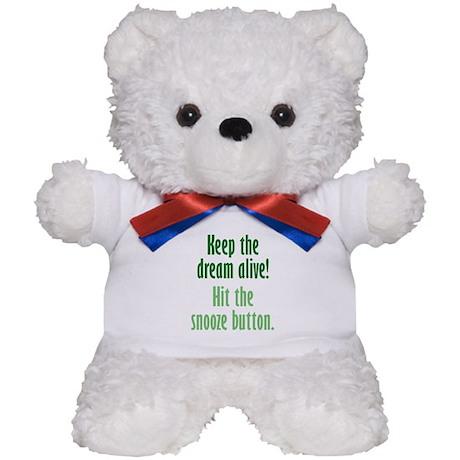 Snooze Button Teddy Bear