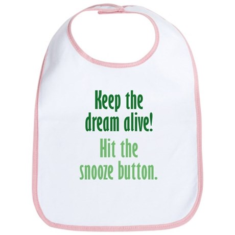 Snooze Button Bib
