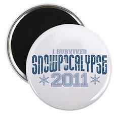 I Survived Snowpocalypse 2011 Magnet