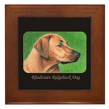 Rhodesian Ridgeback Dog Framed Tile