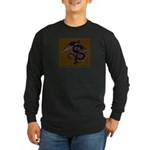 Ye Olde Itchy & Scratchy Drag Long Sleeve Dark T-S