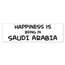 Happiness is Saudi Arabia Bumper Bumper Sticker