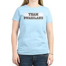 Team Swaziland Women's Pink T-Shirt
