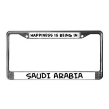 Happiness is Saudi Arabia License Plate Frame