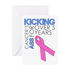 KickingCancer1Year Greeting Card