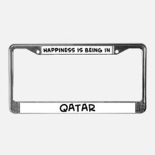 Happiness is Qatar License Plate Frame