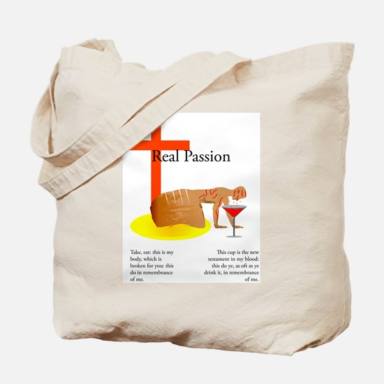 The Real Passion of Christ Tote Bag